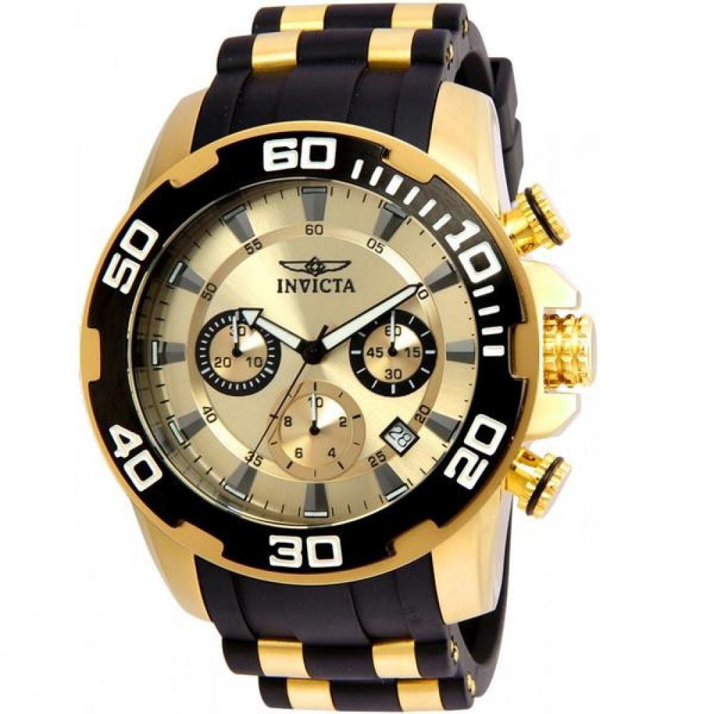 7ace9055012 Relógio Preto com Dourado Invicta - Feira dos Importados de Brasília - Sia  - A Loja Virtual