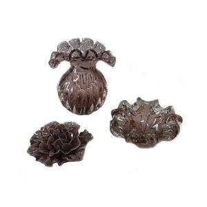 Peças-em-murano-rosê-e-flor-em-cerâmica